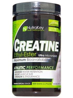 NutraKey Creatine Ethyl Ester, 500 Grams, 166 Servings