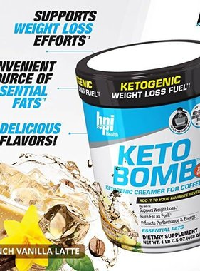 bpi Keto Bomb French Vanilla Latte 18 servings