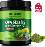 Naturelo Premium Supplements Raw Greens Whole Food Powder, Raw Greens, 30 servings