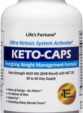 Life's Fortune Keto Caps, 180 Caps