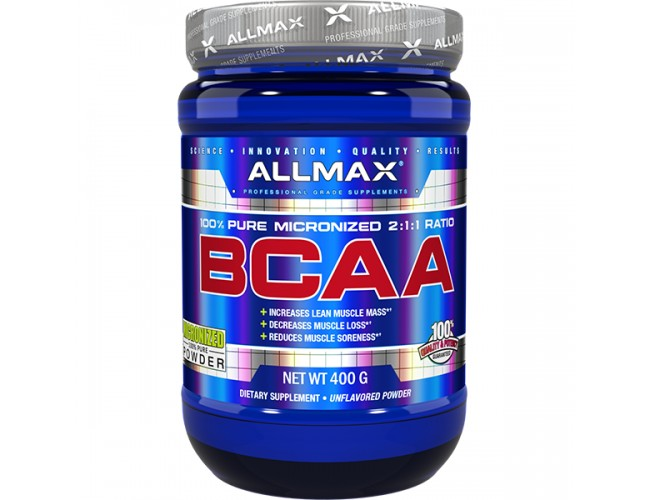 AllMax Nutrition AllMax, BCAA 2:1:1 Powder, Unflavored, 80 Servings (400gms)