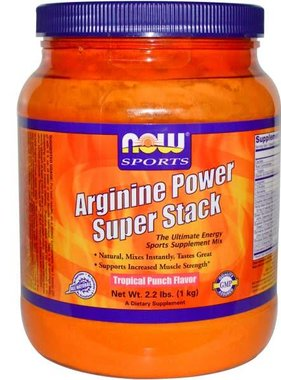 NOW Foods Now Foods, Arginine Power Super Stack, Tropical Fruit Punch, 50 Servings
