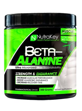 NutraKey Beta Alanine 300 gms, Unflavored, 100 Servings