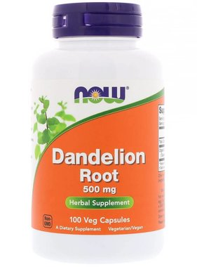 NOW Foods Now Foods, Dandelion Root 500 mg, 100 Capsules