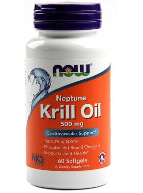 NOW Foods Now Foods, Neptune Krill Oil 500mg, 60 softgels