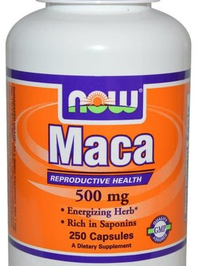 NOW Foods Now Foods, Maca 500 mg, 250 Capsules