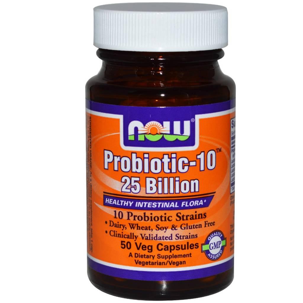 NOW Foods Now Foods, Probiotic-10 25 Billion, 50 Vcapsules