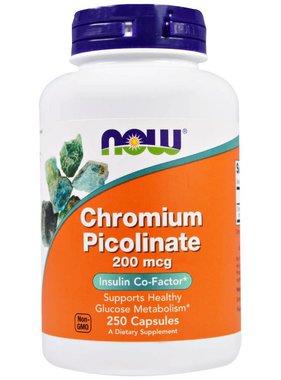 NOW Foods Now Foods, Chromium Picolinate 200mcg , 250 capsules