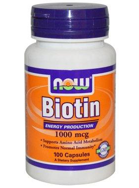 NOW Foods Now Foods, Biotin 1000 mcg , 100 capsules