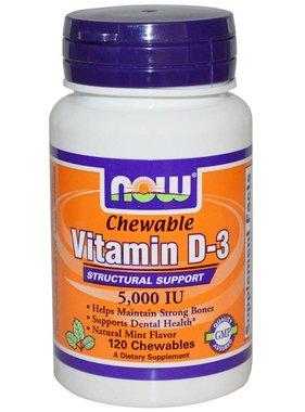 NOW Foods Now Foods, Vitamin D-3 5000 IU , Mint, 120 Lozenges