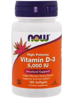 NOW Foods Now Foods, Vitamin D3 (5000 IU), 120 Softgels