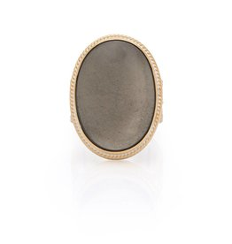 Anna Beck Smooth Pyrite Cocktail Ring
