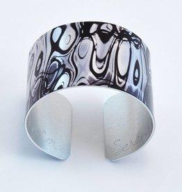 Nancy Reid Carr Wide Cuff - aluminum