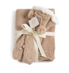 Shiraleah Alta Blanket and Slipper Set