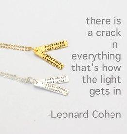 Chocolate & Steel Leonard Cohen Quote Necklace