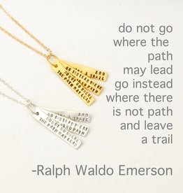 Chocolate & Steel R.W. Emerson Quote Necklace