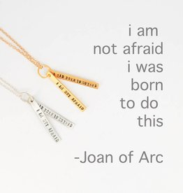 Chocolate & Steel Joan of Arc Quote Necklace