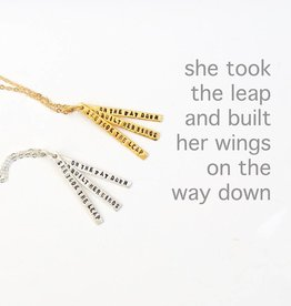 Chocolate & Steel The Leap Quote Necklace