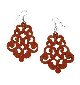 Erica Zap Double Swirl Leather Earrings