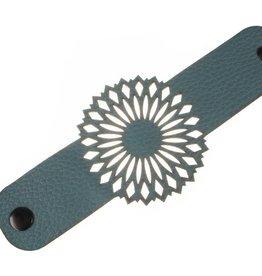 Erica Zap Leather Mandala Bracelet