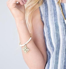 Stone & Stick Aflame Wire Bracelet