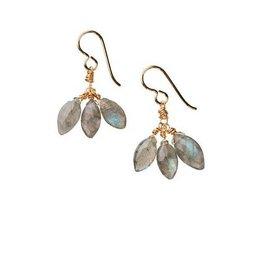 Alexia Viola Cluster Earrings, labradorite