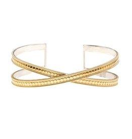 Anna Beck Single Cross Cuff, gold