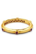 Catalina Hinge Bangle Gold Amethyst Purple