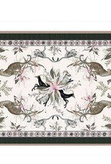 Ardmore Tablecloth Leopard Lilly in Safari Stone Cream