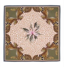 Ngala Trading Ardmore Napkin Leopard Lilly Stone Cream Pair