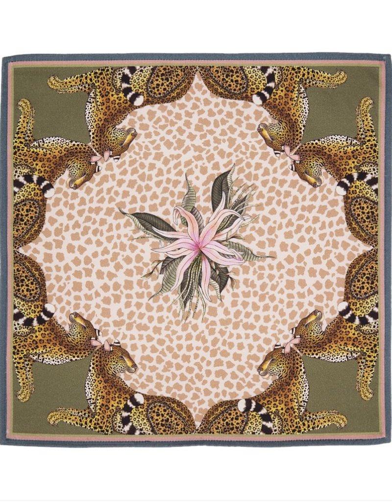 Ardmore Napkin Leopard Lilly Stone Cream Pair