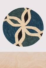 Cool Color Block Extra Large Raffia Plate