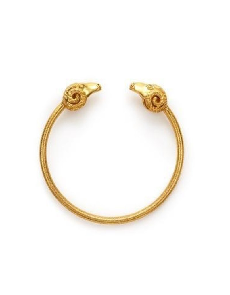 Ram Flexible Open Gold Bangle
