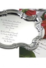 Chippendale Tray with Engraved Wedding Invitaiton