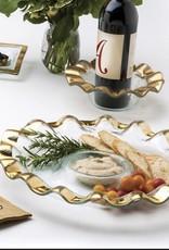 Ruffle Gold Soup Bowl