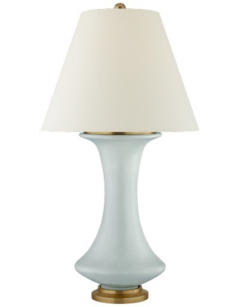 Nota Medium Lamp in Matte Sky Blue