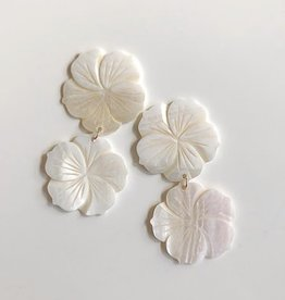 Double Mother of Pearl Earrings