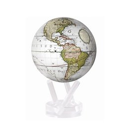 "6"" Terrestrial White Globe with Base"