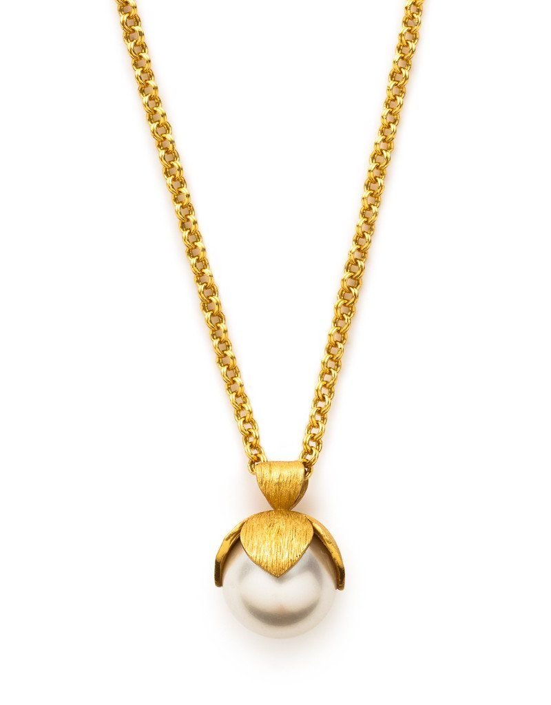 Penelope Delicate Necklace Gold Pearl