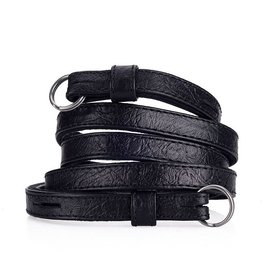 Strap: Traditional Black Ostrich Look w/ Neck Pad**