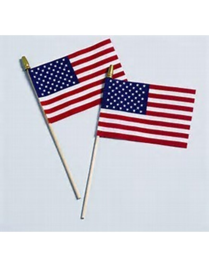 """4""""x6"""" U.S. FLAG WITH SPEAR"""