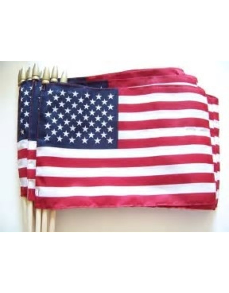 "12""x18"" US FLAG W/SPEAR"