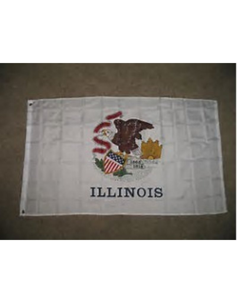 5'x8' NYLON ILLINOIS FLAG