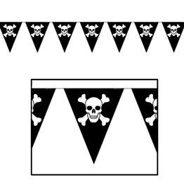 Jolly Roger Pennant Banner- 12ft