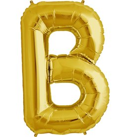 "34"" Gold Foil B Balloon"
