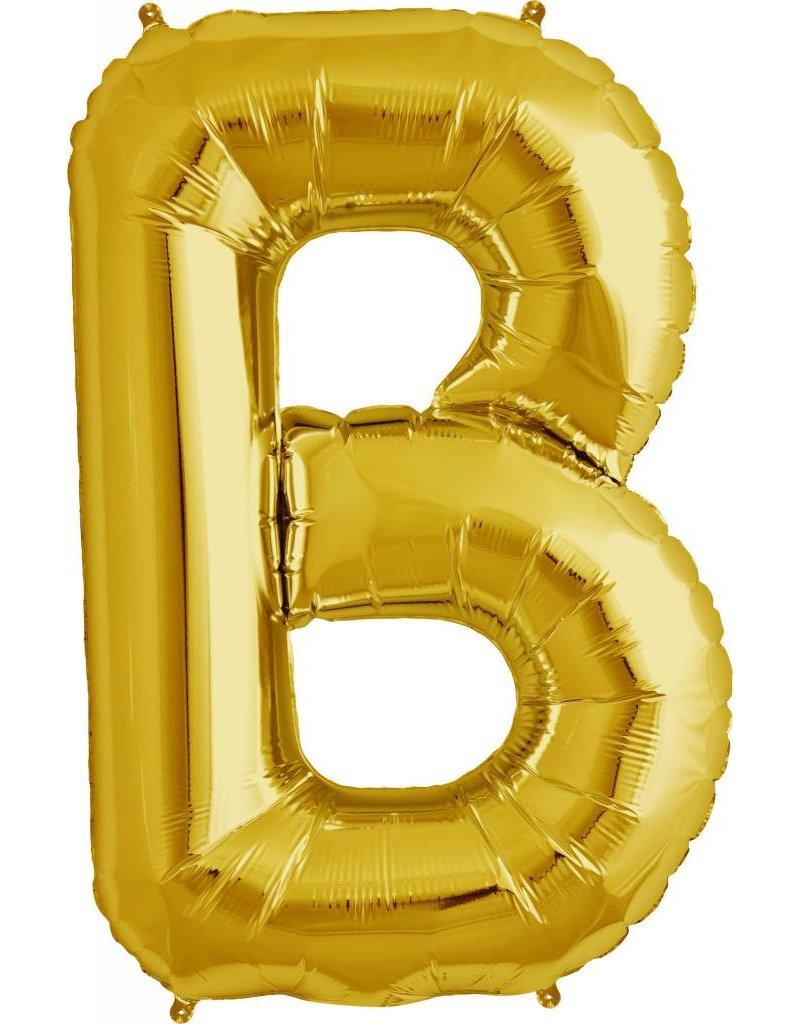 "34"" Gold Foil B Balloon"