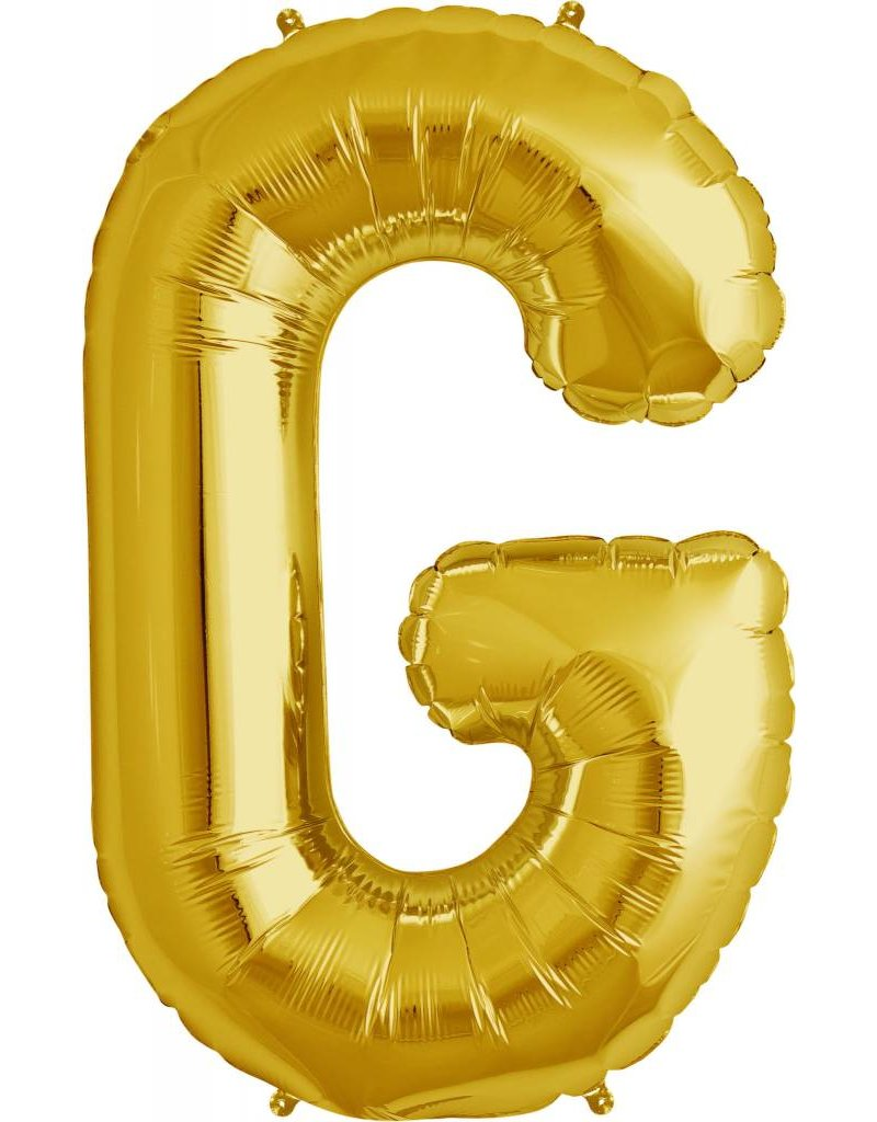 "34"" Gold Foil G Balloon"