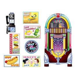 Soda Shop Signs and Jukebox Props Insta Theme