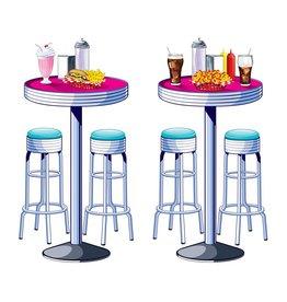 Soda Shop Tables & Stools Props
