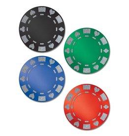 Glittered Poker Chip Cutouts